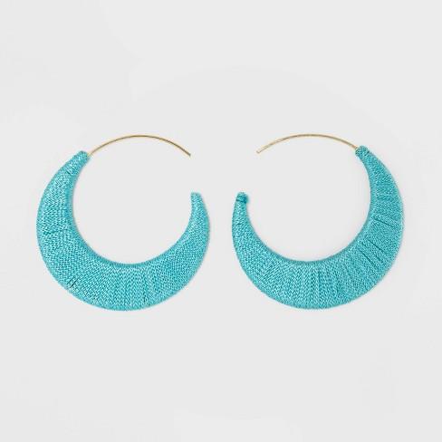 SUGARFIX by BaubleBar Threaded Hoop Earrings - image 1 of 2