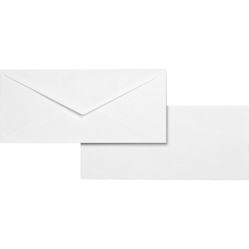 Image of Business Source 500ct No.10 V Flap Business Envelopes - White