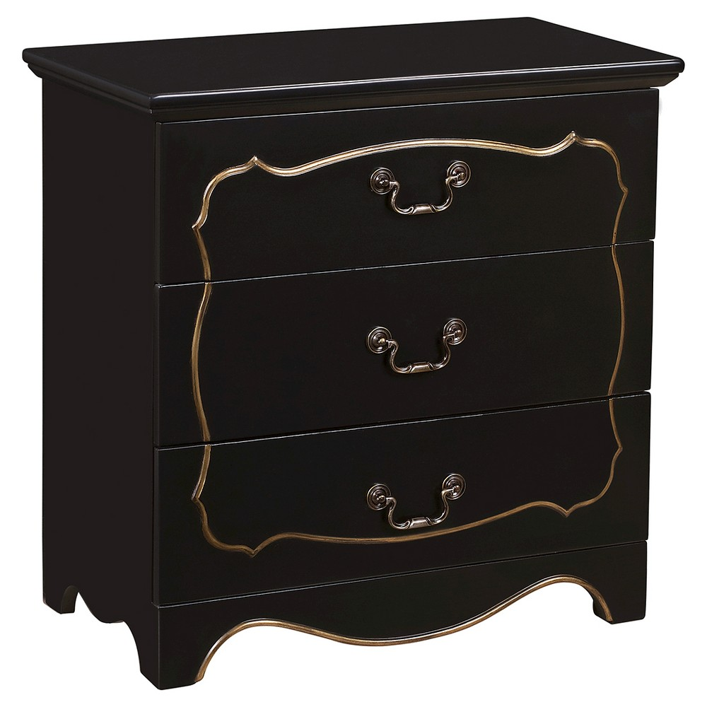 Pillsbury Accent Storage Console with Three Drawers Black - Home Meridian
