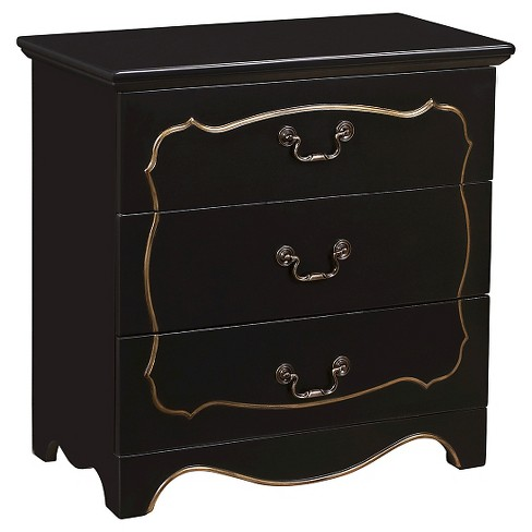 Pillsbury Accent Storage Console with Three Drawers Black - Home Meridian - image 1 of 3