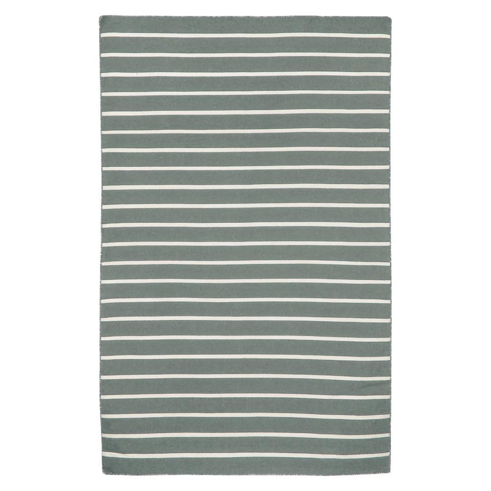 Liora Manne Sorrento Pinstripe Indoor/Outdoor Area Rug - Gray (5'X7'6)
