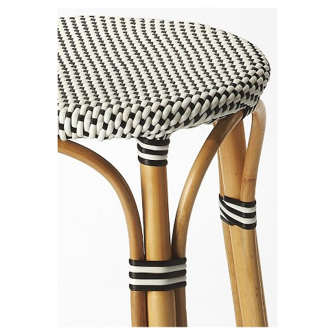 Tobias Rattan Bar Stool Black White Butler Specialty Target