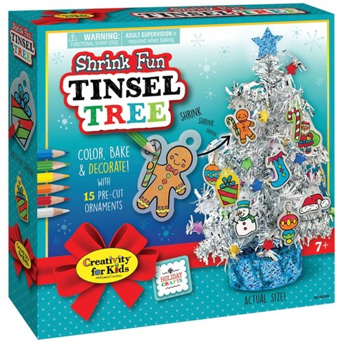 Creativity for Kids Holiday Shrink Fun Tinsel Tree - image 1 of 4