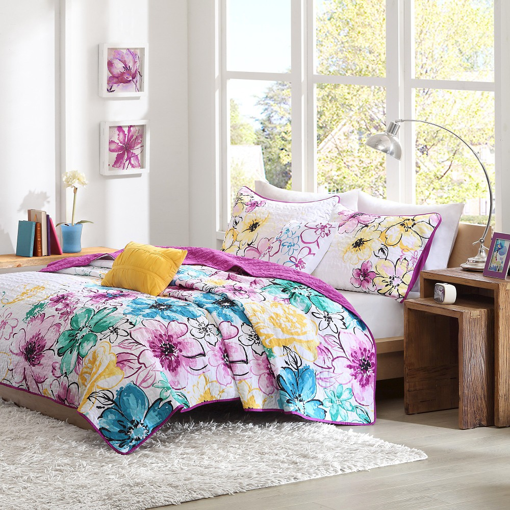 Image of Skye 5 Piece Coverlet Set - Multi-Colored (Full/Queen)