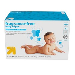 Fragrance Free Baby Wipes Refill Pack - 800ct - Up&Up™