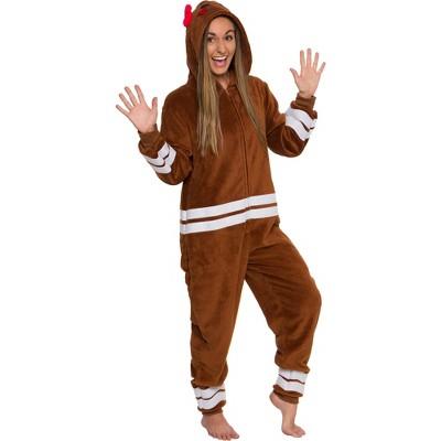 Funziez! Holiday Gingerbread Lady Slim Fit  Women's Novelty Union Suit