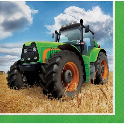 48ct Tractor Time Beverage Napkins