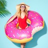 Strawberry Frosted Donut Pool Float Pink - Sun Squad™ - image 3 of 3