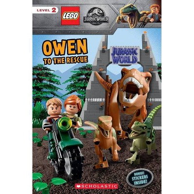 Owen to the Rescue (Lego Jurassic World: Reader with Stickers) - by  Meredith Rusu (Mixed Media Product)