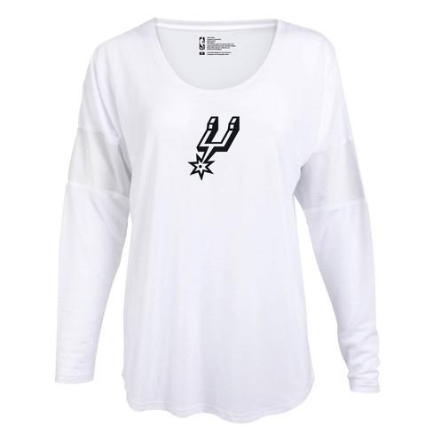 NBA San Antonio Spurs Women's Core Athletic White Mesh Insert Long Sleeve T-Shirt - image 1 of 2