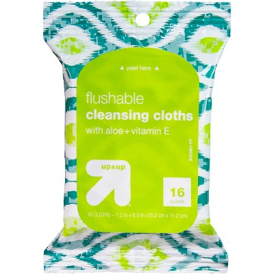 Flushable Cleansing Cloths - 16ct - up & up™