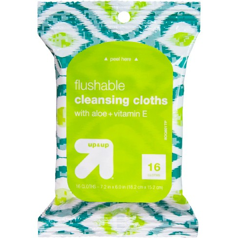 Flushable Wipes Cleansing Cloths - 16ct - up & up™ - image 1 of 3