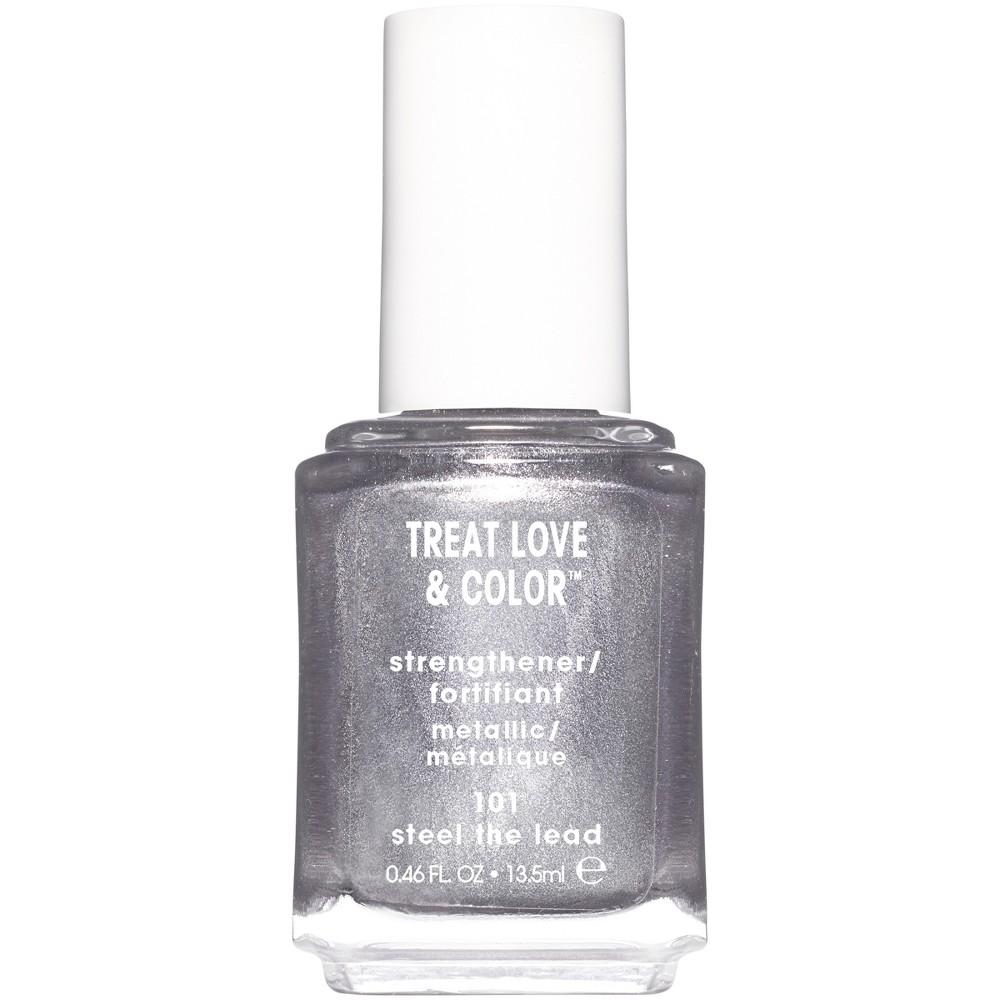 Image of essie Treat Love & Color Nail Polish - Steel The Lead - 0.46 fl oz, Silver The Lead