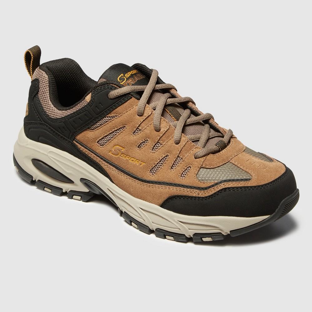 Men's S Sport By Skechers Ashford Wide Width Athletic Shoes - Brown 13W, Size: 13 Wide, Brown Black