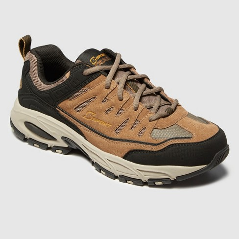 Men's S Sport By Skechers Ashford Wide Width Athletic Shoes Brown 8W
