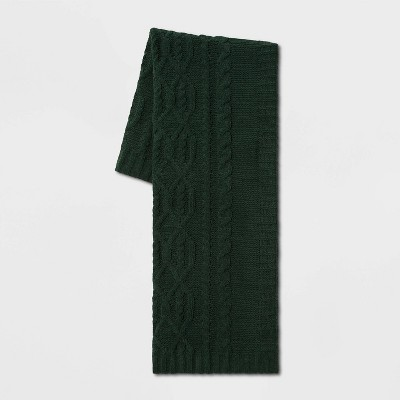 Cable Knit Chenille Throw Blanket Green - Threshold™