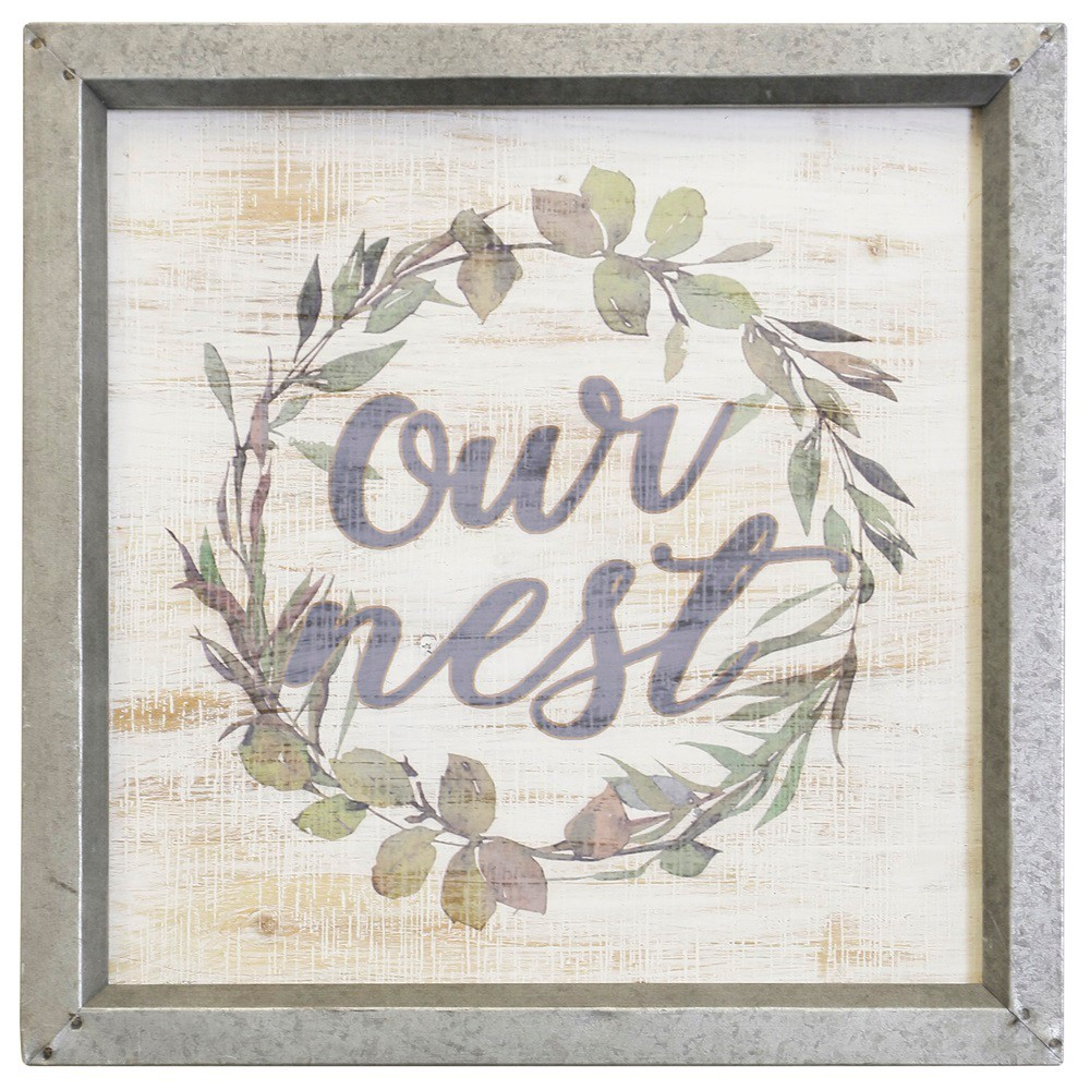 15.75 Our Nest Wreath Decorative Wall Art - StyleCraft, Multi-Colored