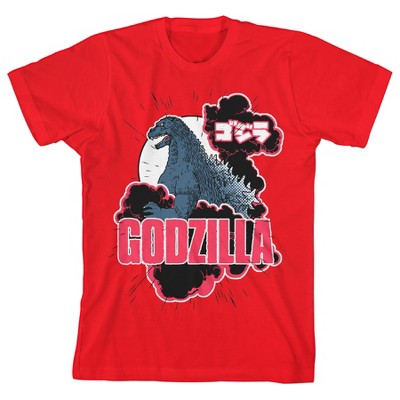Classic Godzilla Youth Red Graphic Tee