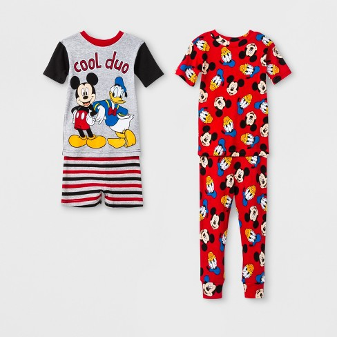 f367d892d0 Toddler Boys  Mickey Mouse 4pc Pajama Set - Red   Target