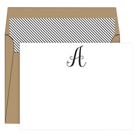 RosanneBECK Collections White Social Set Kraft Monogram - image 1 of 1