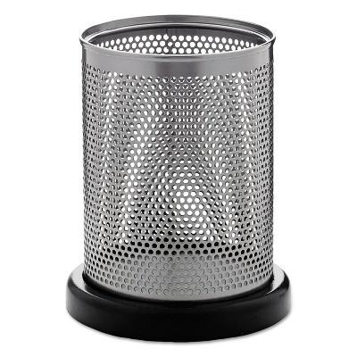 Rolodex Distinctions Pencil Cup 3 1/2 dia. x 4 1/2 Metal/Black E23569