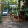 Abbington Teak Patio Lounge Chair with Cushion - Cambridge Casual - image 4 of 4