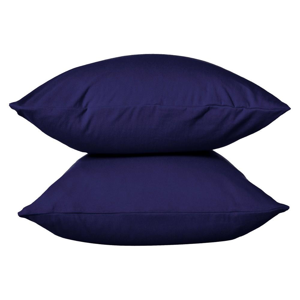 Jersey Pillowcase Standard Solid Navy Room Essentials 8482