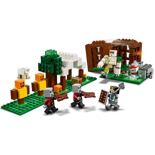 LEGO Minecraft The Pillager Outpost Awesome Action Figure Building Set 21159 image number null
