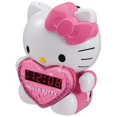 Hello Kitty AM/FM Projection Clock Radio with Digital Tuning and Battery Back-up (KT2064) - image 1 of 2
