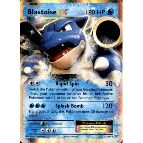 Pokemon X and Y Evolutions Rare Holo ex Blastoise EX #21 - image 1 of 1