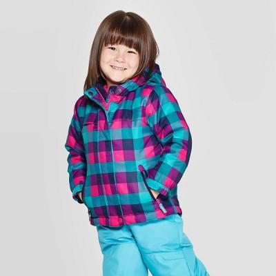 Toddler Girls' Plaid 3-in-1 Jacket - Cat & Jack™ Navy 2T