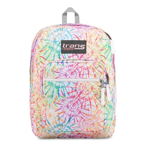 """Trans by JanSport 17"""" Supermax Backpack - Tie Dizzle White - image 1 of 5"""