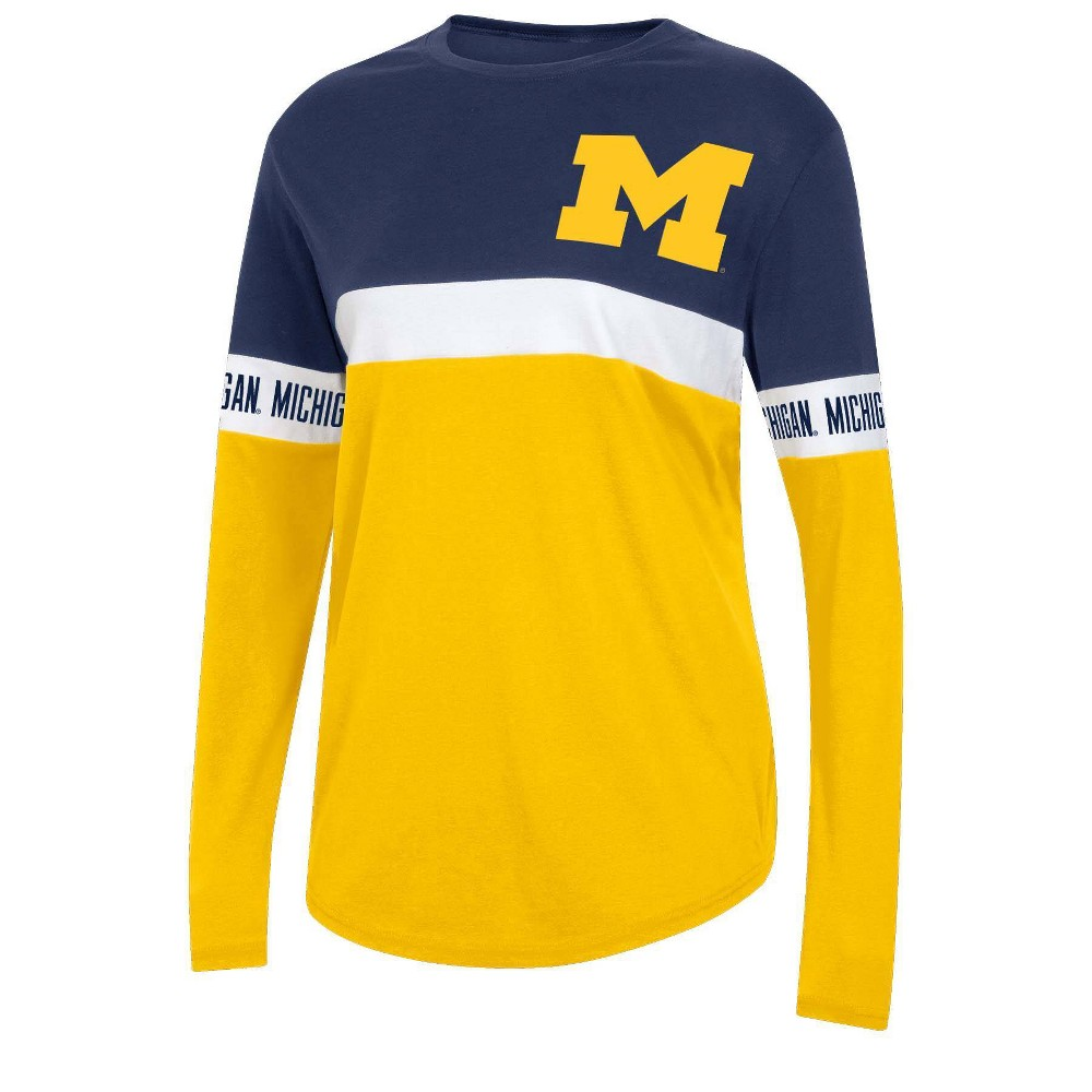Ncaa Michigan Wolverines Women 39 S Long Sleeve T Shirt Xl
