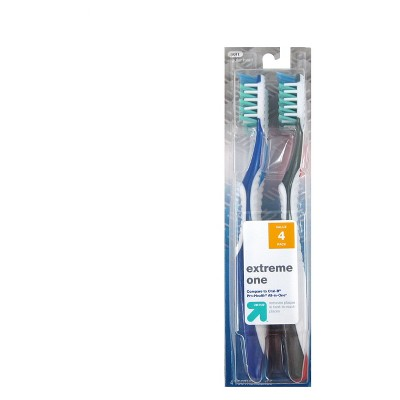 Extreme One Manual Toothbrush - 4ct - up & up™