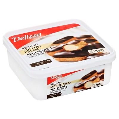 Delizza Patisserie Belgian Custard Cream and Dark Chocolate Frozen Mini Eclairs - 30pk