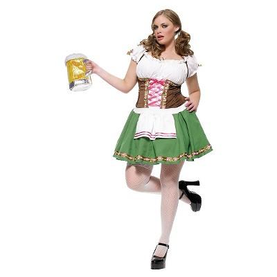 Adult Plus Size Gretchen Beer Garden Halloween Costume 3X