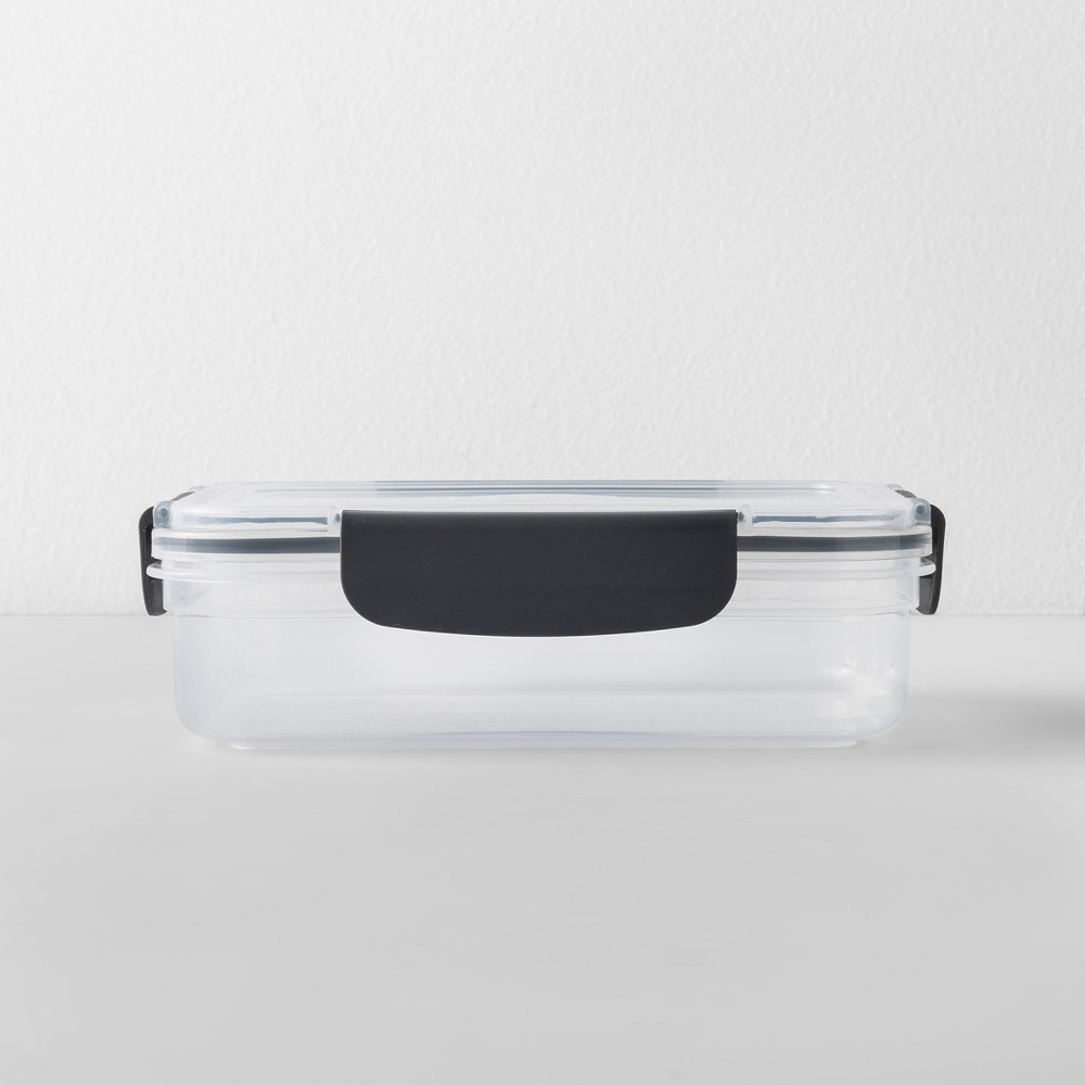 Rectangular Plastic Food Storage Container 4 cup - Made By Design, Gray Clear