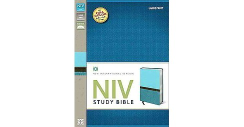 Holy Bible : New International Version Turquoise / Caribbean Blue Italian Duo-Tone Study Bible - image 1 of 1