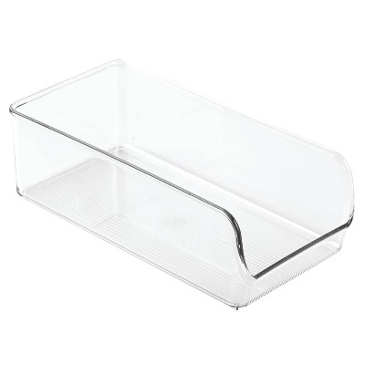 "InterDesign Fridge/Freezer Organizer Bins 11""X5.5"" 4pk Clear"