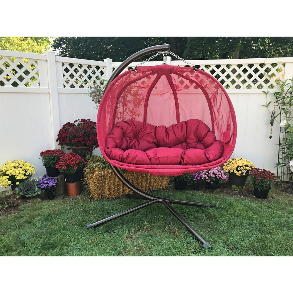Image of Textilene Hanging Pumpkin Chair - Red - Flowerhouse