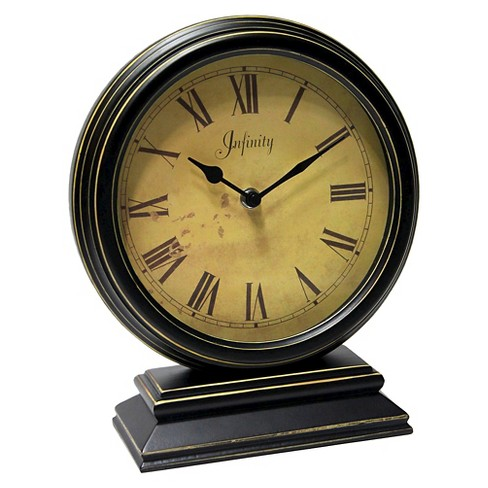 The Dais Table Clock Black/Gold - Infinity Instruments® - image 1 of 1