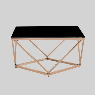 Archibald Modern Glam Coffee Table Black - Christopher Knight Home