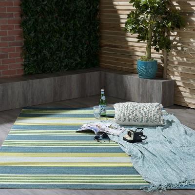 Waverly Sun N Shade SND71 Green/Teal Indoor/Outdoor Area Rug : Target