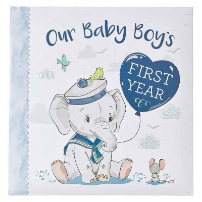 Memory Book Our Baby Boy's First Year - (Hardcover)