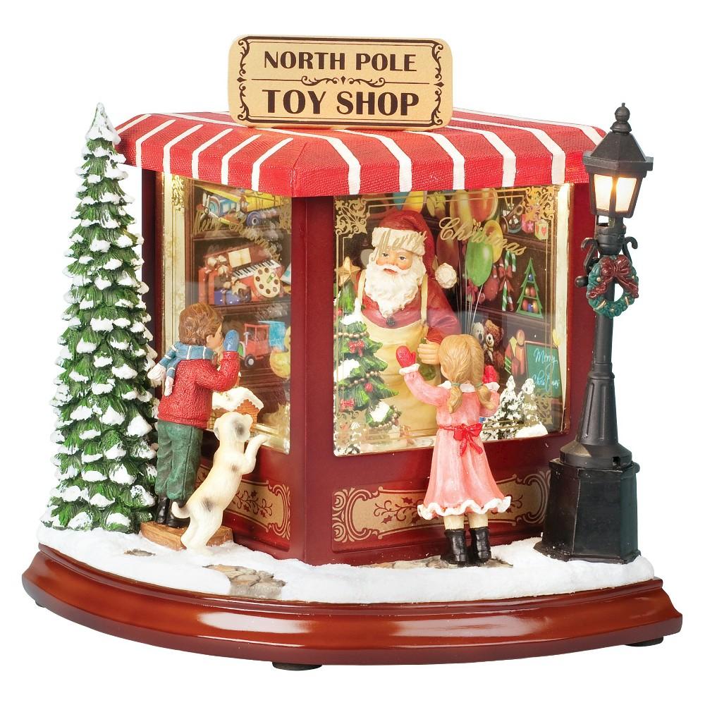 Santa's North Pole Toy Shop Holiday Figurine, Multi-Colored