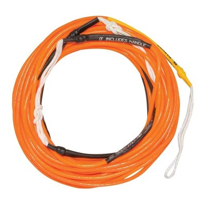 Hyperlite 77000231 70 Foot Silicone Coated X-Line for Waterski and Wakeboard, Neon Orange