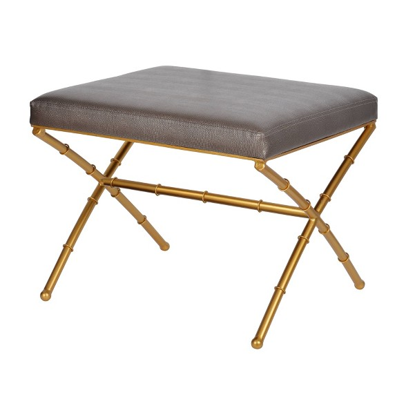 Pleasant Bailey Stool Gold Metallic Gray Ab Home Gmtry Best Dining Table And Chair Ideas Images Gmtryco