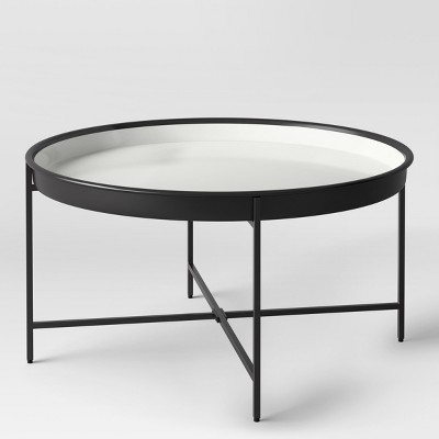 Pradet Tray Coffee Table Black/White   Project 62™