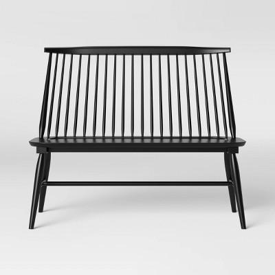 Harwich High Back Windsor Bench Black - Threshold™