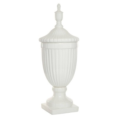 "26"" Modern Ceramic Urn Vase White - Olivia & May"